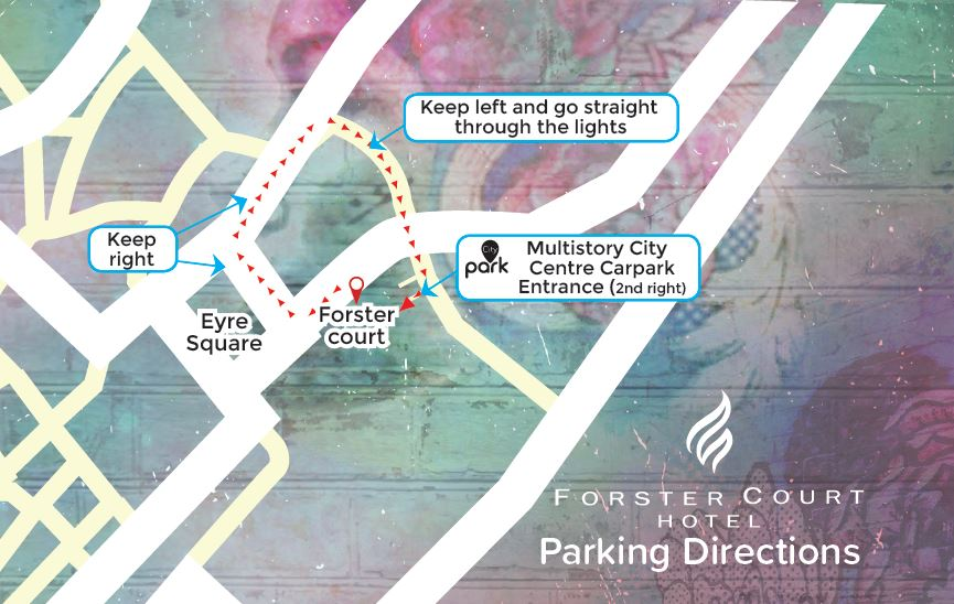 Car Park Directions from Forster Court Hotel Galway to City Park on Fairgreen Rd